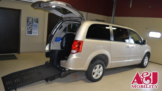2012 Dodge Grand Caravan BraunAbility Dodge Manual Rear Entry Wheelchair Van For Sale