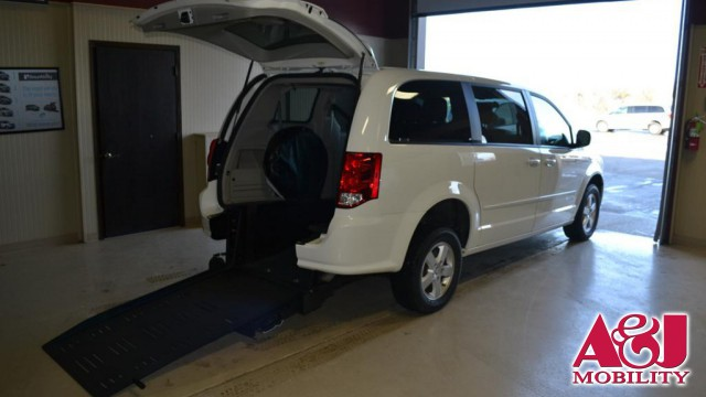 2011 Dodge Grand Caravan Commercial Vans Dodge ADA Rear Entry Wheelchair Van For Sale