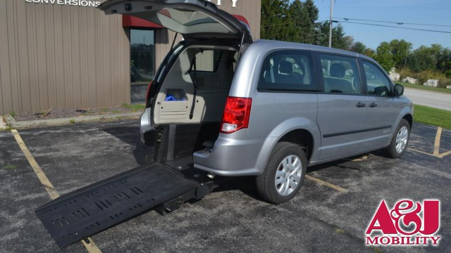 2015 Dodge Grand Caravan Commercial Vans Dodge ADA Rear Entry Wheelchair Van For Sale