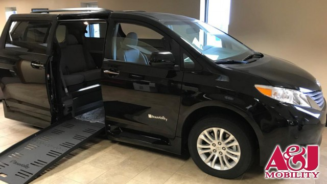 2017 Toyota Sienna BraunAbility Rampvan XL Wheelchair Van For Sale