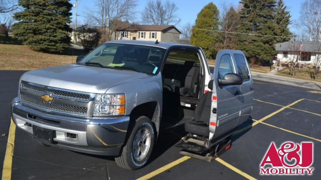 2012 Chevrolet Silverado 1500 Mobility SVM Wheelchair truck conversion Wheelchair Van For Sale
