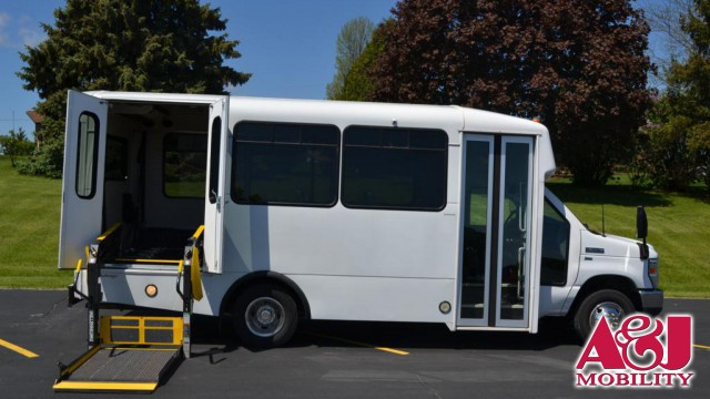 2011 FORD ECONOLINE 350 Non Branded ADA Wheelchair Accessible Bus Wheelchair Van For Sale