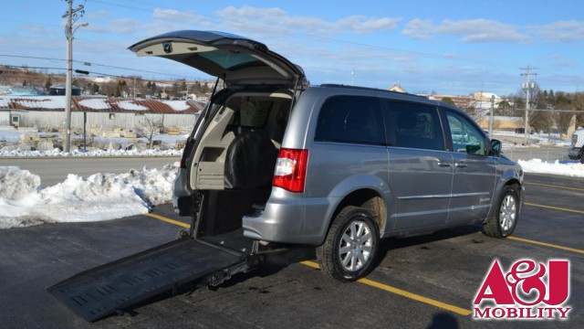 2014 Chrysler Town and Country Commercial Vans Dodge ADA Rear Entry Wheelchair Van For Sale