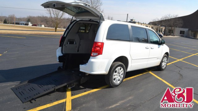 2016 Dodge Grand Caravan Commercial Vans Dodge ADA Rear Entry Wheelchair Van For Sale