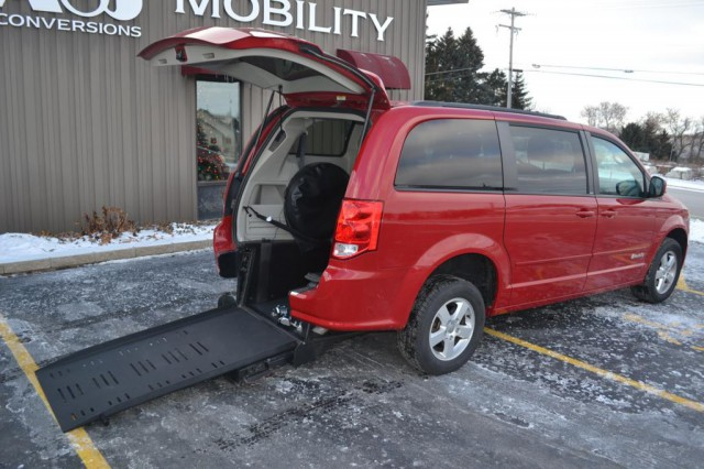 2012 Dodge Grand Caravan Commercial Vans Dodge ADA Rear Entry Wheelchair Van For Sale