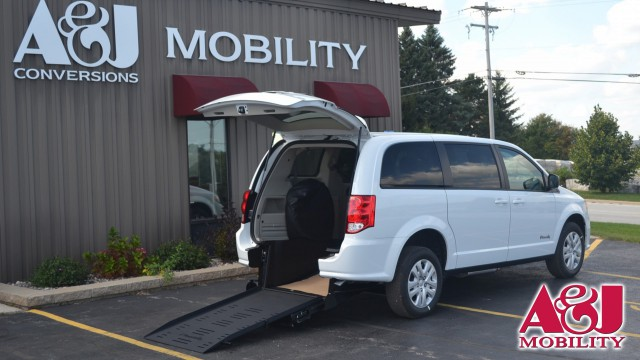 2018 Dodge Grand Caravan Commercial Vans Dodge ADA Rear Entry Wheelchair Van For Sale