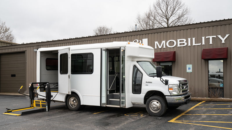 Used 2011 Ford E-350.  ConversionADA Wheelchair Accessible Bus