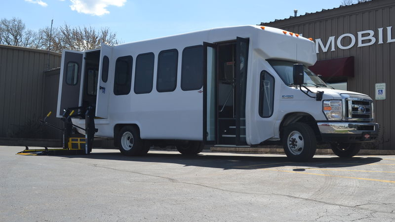 New 2019 Ford E-450.  ConversionADA Wheelchair Accessible Bus