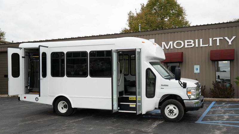 New 2019 Ford E-350.  ConversionADA Wheelchair Accessible Bus