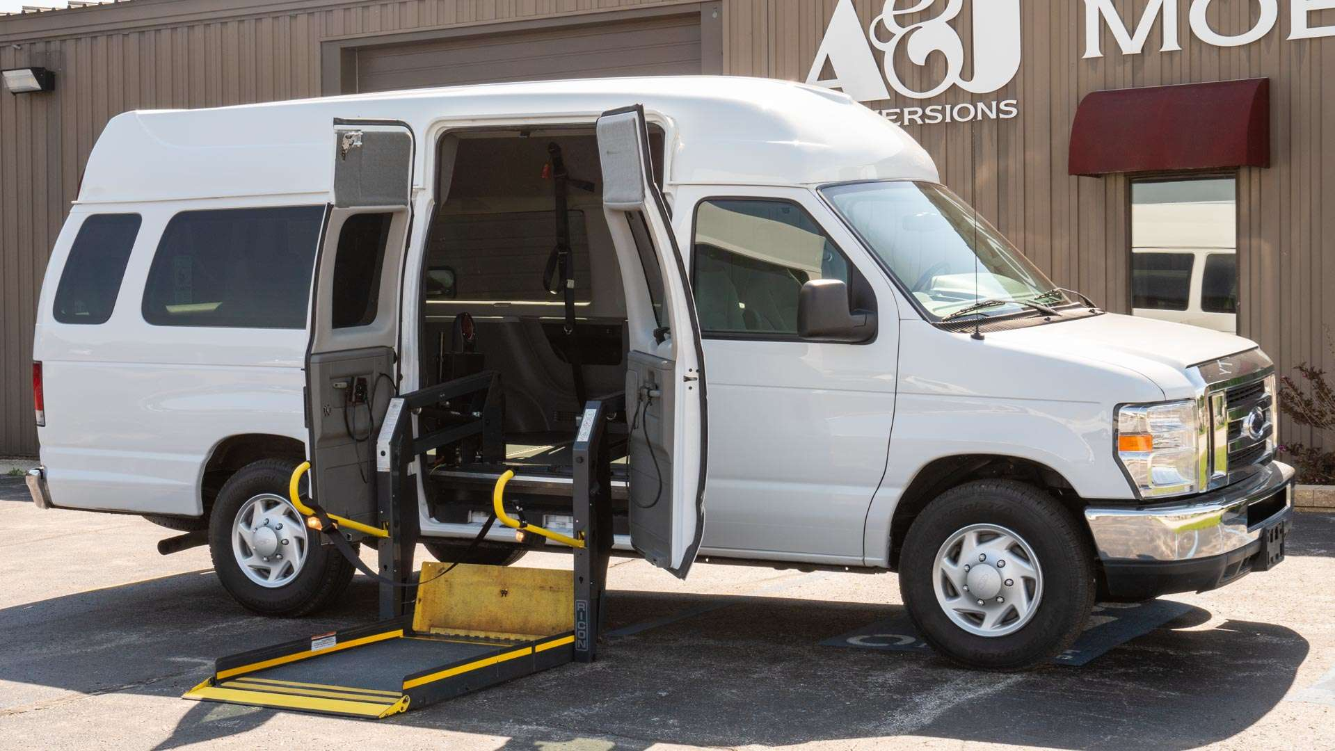 2013 Ford E-250 | Conversion: Wheelchair Lift & Tiedowns