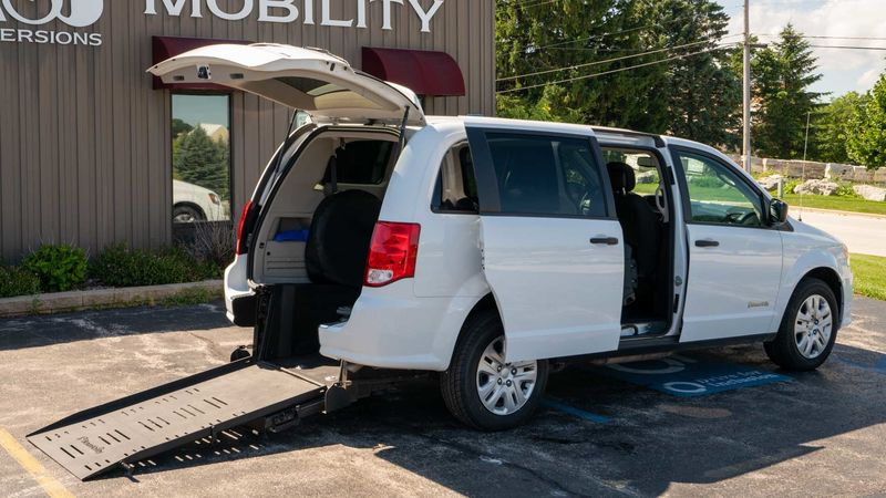 Used 2019 Dodge Grand Caravan.  ConversionCommercial Vans Dodge ADA Rear Entry