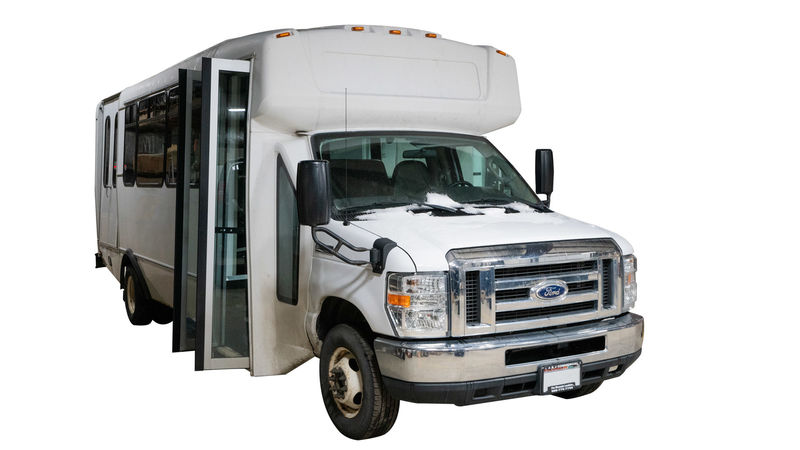 Used 2015 Ford E-450.  ConversionADA Wheelchair Accessible Bus