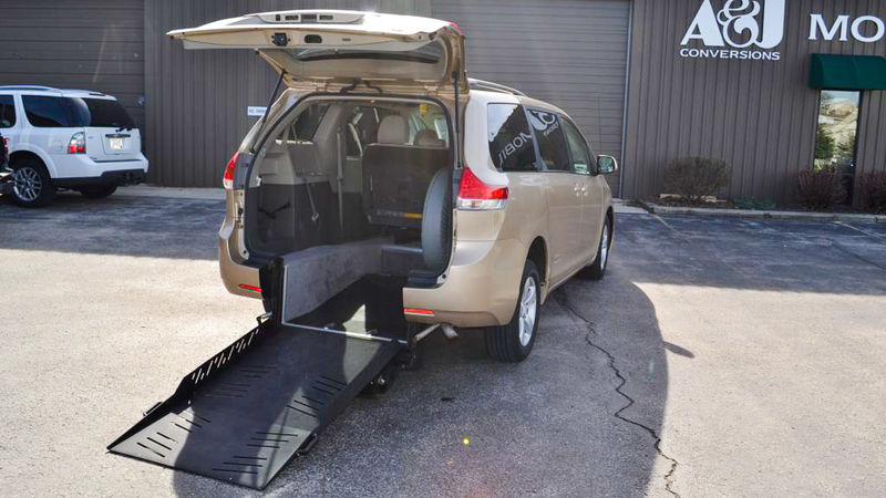 Used 2011 Toyota Sienna.  ConversionAutoAbility Wheelchair Van Conversions Rear Entry Toyota