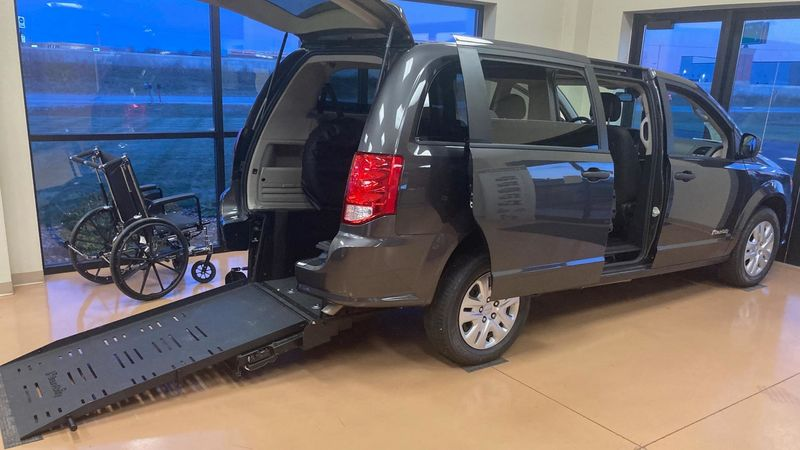 New 2020 Dodge Grand Caravan.  ConversionCommercial Vans Dodge ADA Rear Entry