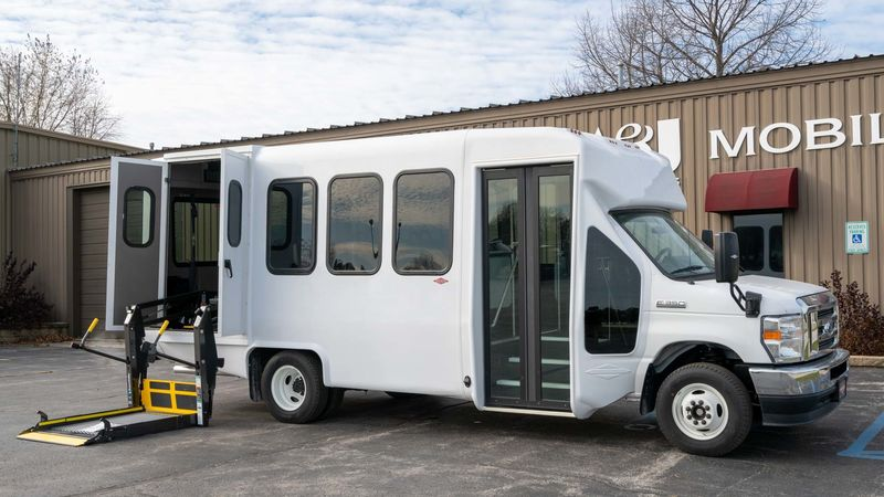 New 2021 Ford E-350.  ConversionADA Wheelchair Accessible Bus
