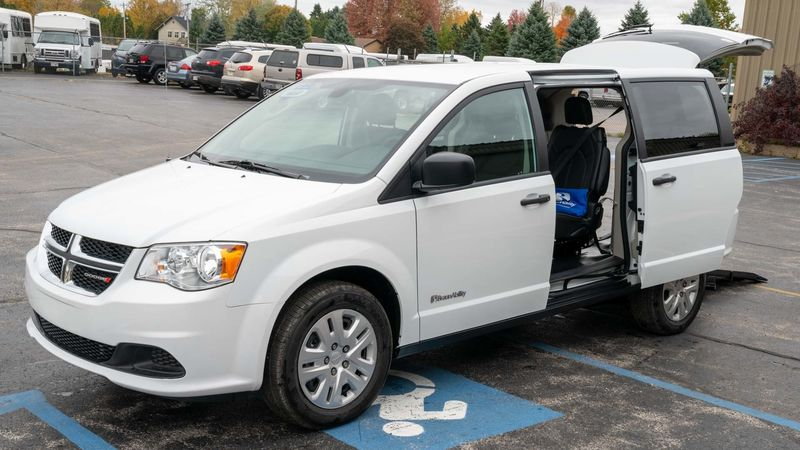 New 2019 Dodge Grand Caravan.  ConversionCommercial Vans Dodge ADA Rear Entry