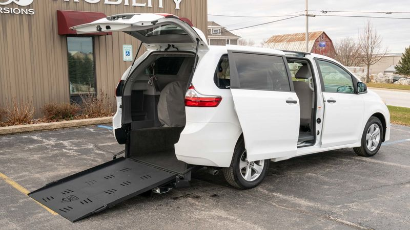 New 2020 Toyota Sienna.  ConversionCommercial Vans Toyota Manual Rear Entry