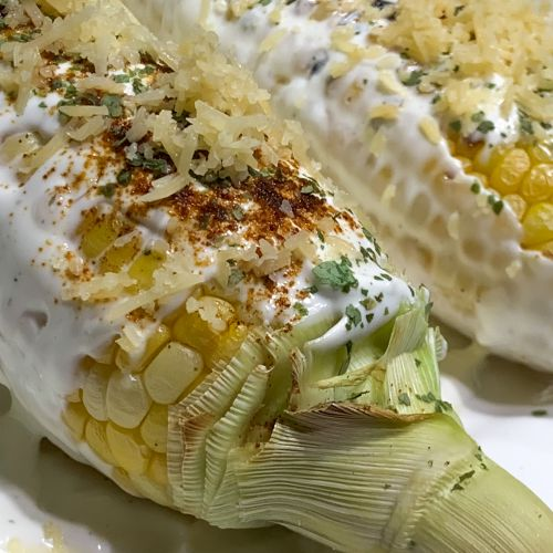 Mexican Grilled Corn - From Ou